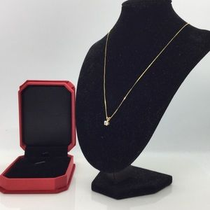 "Jewelry - 0.25CT Solitaire Diamond 14K Pendant Necklace 17"""